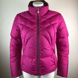 Nike Puffer Jacket Quilted Coat Zip Fleece-lined S